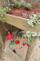 natural play free parts covered sandpit